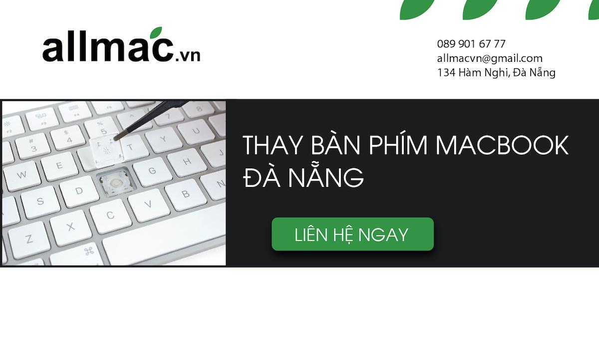 Thay bàn phím macbook Đà Nẵng