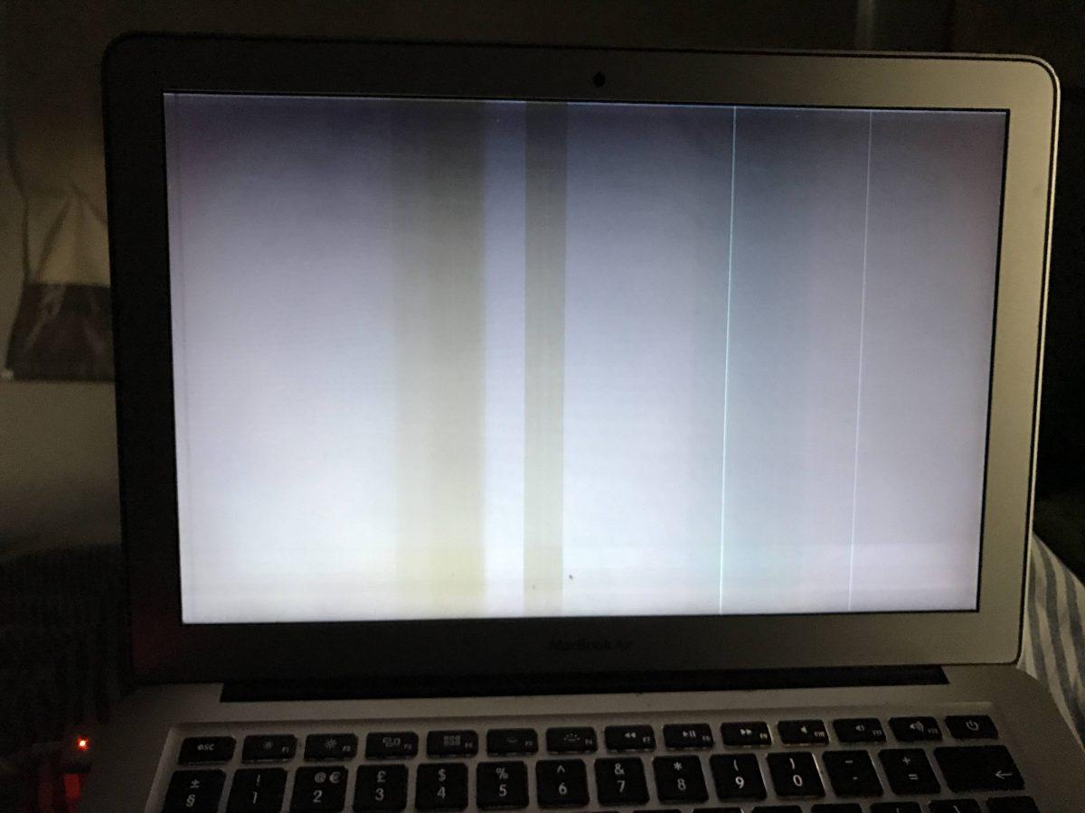 màn hình MacBook bị sọc